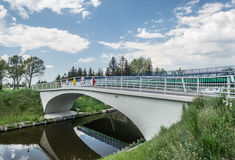 Small concrete viaduct Stock Photo