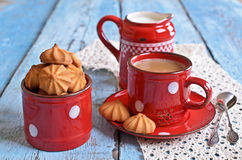 Small cone-shaped cookies Stock Photography