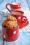 Small cone-shaped cookies Royalty Free Stock Photography