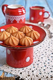 Small cone-shaped cookies Royalty Free Stock Images