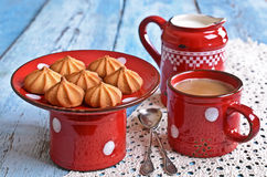 Small cone-shaped cookies Royalty Free Stock Photos