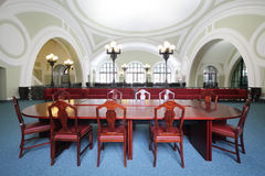 Small conference hall in Commerce and Industrial chamber of Russia Royalty Free Stock Image