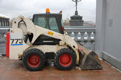 Small construction excavator Royalty Free Stock Image