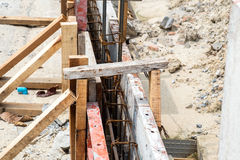 A small construction site. Of house fence royalty free stock photos
