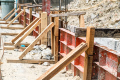 A small construction site. Of house fence stock photo