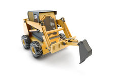 Small construction utility vehicle isolated Royalty Free Stock Image