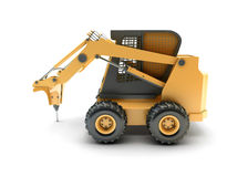 Small construction utility vehicle isolated Stock Photos