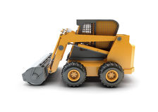 Small construction utility vehicle isolated. On white Royalty Free Stock Photos