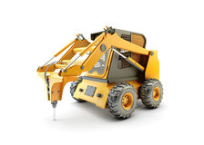 Small construction utility vehicle isolated Royalty Free Stock Images