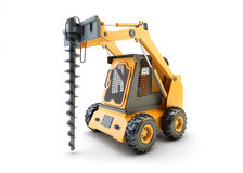 Small construction utility vehicle isolated Stock Photography