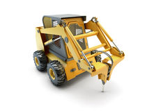 Small construction utility vehicle isolated Stock Images