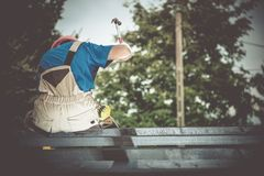 Small Construction Works Stock Photography