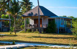 Small contemporary house in tropical climate Stock Images