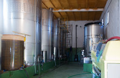 Small contemporary  winery factory Royalty Free Stock Images