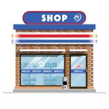 Small convenience store royalty free illustration