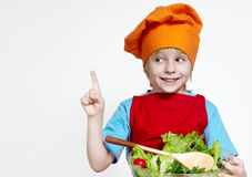 Small cook on a light background Stock Images