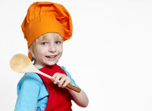 Small cook on a light background Royalty Free Stock Image