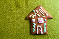 Small cookie house on green Royalty Free Stock Photos