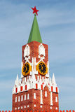 Small copy of Moscow Kremlin Spasskaya Tower with chimes Royalty Free Stock Photography
