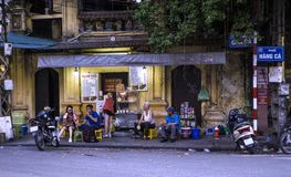 Small corner of Hanoi Old Quarter stock image