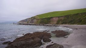 A small Cornish bay stock video footage