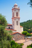 Small Corsican town vertical landscape, Piana Stock Photography