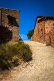 Small Corsican village Girolata royalty free stock image