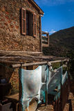 Small Corsican village Girolata stock images