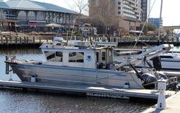 Patrol Boat, Police Costal Cruiser Norfolk, Virginia Royalty Free Stock Image
