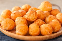Small cottage cheese doughnuts castgnole stock photography