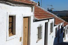 Small cottages, Estepa, Spain. Royalty Free Stock Photo