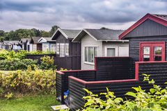 Small cottages near the seaside, Royalty Free Stock Images