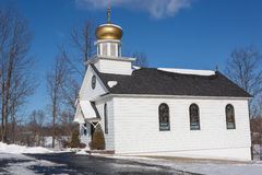 A small country Russian Orthodox Church Royalty Free Stock Photo