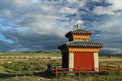 Small countryside temple near Kharkhorin Stock Photos