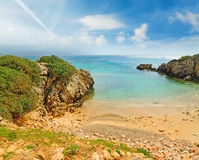 Small cove in Alghero shoreline Royalty Free Stock Image
