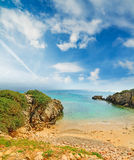 Small cove in Alghero shoreline Royalty Free Stock Photo