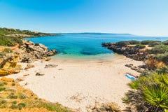 Small cove in Alghero shoreline. Sardinia, Italy stock photos