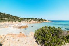 Small cove in Spiaggia del Principe. Beach, Sardinia Royalty Free Stock Photos