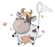 A small cow. Cartoon Stock Photos