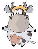 A small cow. Cartoon Stock Photography