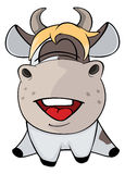 A small cow. Cartoon Stock Images