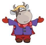 A small cow. Cartoon Royalty Free Stock Photo