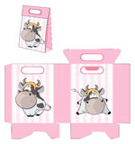A small cow. Handbag packages pattern Stock Photography