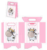 A small cow. Handbag packages pattern Royalty Free Stock Photos