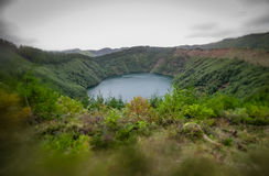 Small crater lake Royalty Free Stock Photo