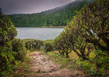 Small crater lake Royalty Free Stock Images