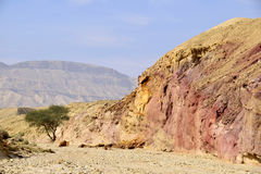 Small Crater landscape in Negev desert. Stock Image