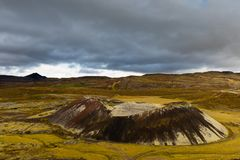 Free Small Crater Volcano Cone In Iceland IS Europe Royalty Free Stock Photography - 140602257