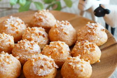 Small cream puffs Stock Photo
