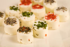Small creamcheese cups Stock Photography